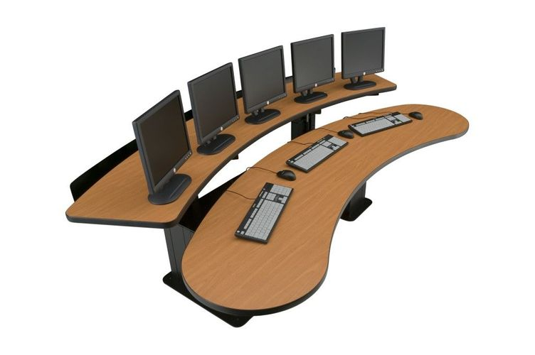 ERGONOMIC HOME COMMAND CENTER DESK W/CPU CABINETS BUILT IN. ADD OPTIONAL SOCIAL DISTANCING SNEEZE GUARDS. ITEM #RFQ-2086. FREE SHIPPING:</b></font>