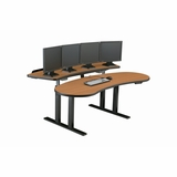 "BANANA TABLE 911 COMMAND CONSOLE ERGONOMICALLY CORRECT DESIGN. 70"" WIDE. #RFQ-1865. MADE IN USA: BAA & TAA COMPLIANT. PRICE INCLUDES SHIPPING:</b></font>"