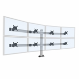 BILD 4 OVER 4 MULTI-MONITOR STAND. BUILT LIKE A SKYSCRAPER. HOLDS 8 MONITORS UP TO 30 LBS EACH. FREE SHIPPING FURNITURE. #ITEM BILD 4/4