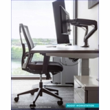 """^BOOST^ HEIGHT ADJUSTABLE RADIOLOGY DESK BY ERGONOMIC HOME. 72"""" X 30"""". + INCLUDES DUAL MONITOR ARM + ERGONOMIC CHAIR + MOBILE PEDESTAL. ALL THIS SHIPS IN 5-7 DAYS W/FREE SHIPPING:</b></font>"""