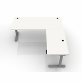 ^BOOST^ PACS HEIGHT ADJUSTABLE RADIOLOGY DESK L-SHAPED. ADD FROSTED GLASS SNEEZE GUARD BARRIERS. FREE SHIPPING 5-7 BIZ DAYS: