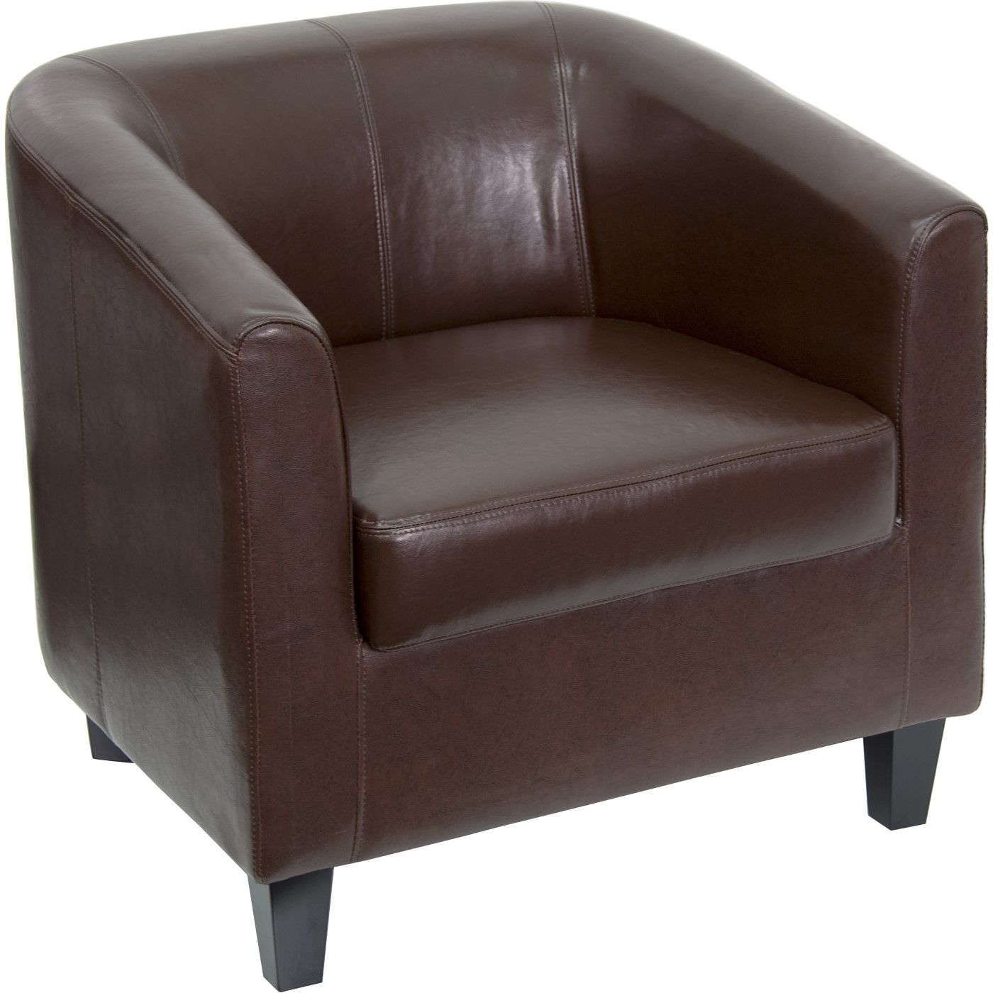 Brown LeatherSoft Lounge Chair