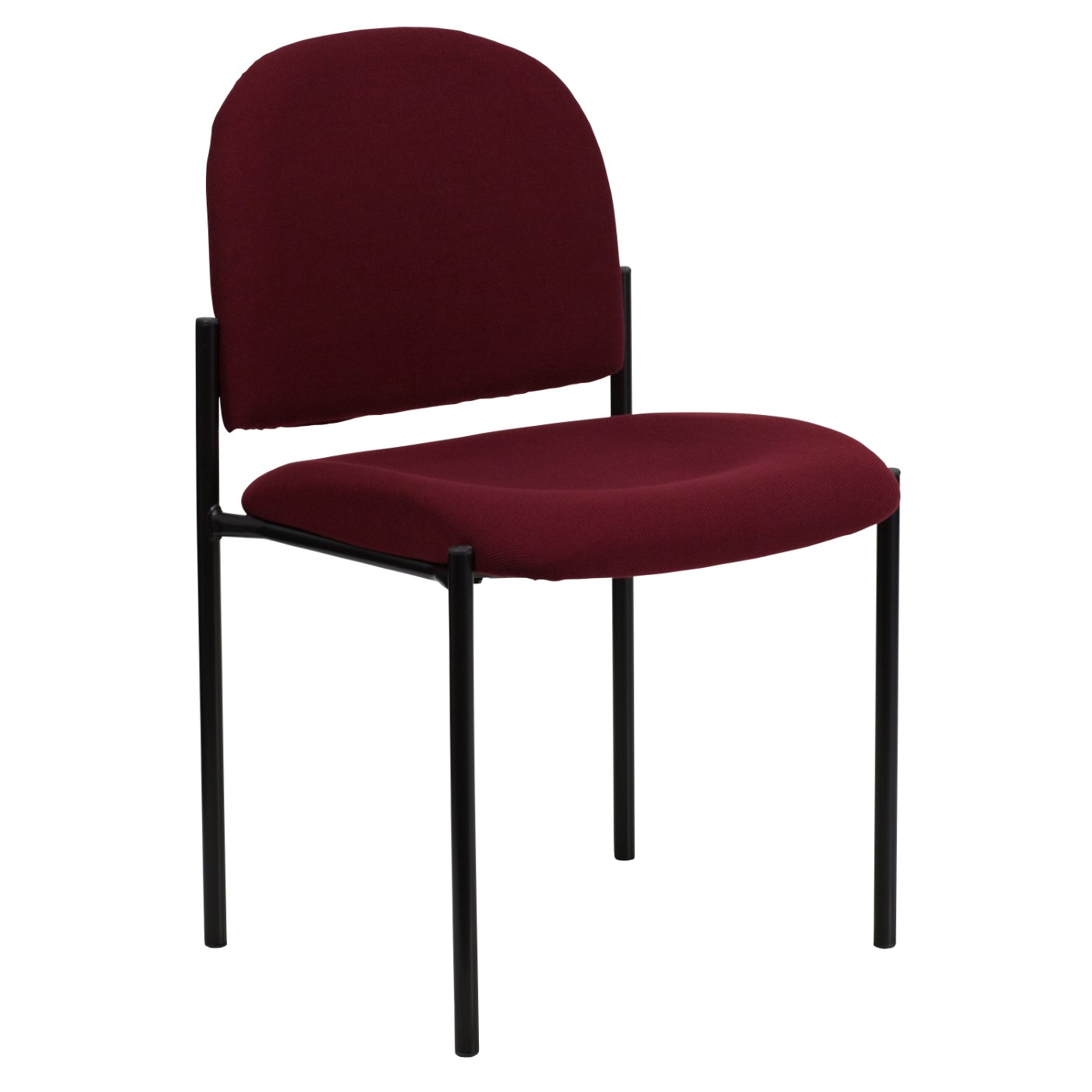 Comfort Burgundy Fabric Stackable Steel Side Reception Chair