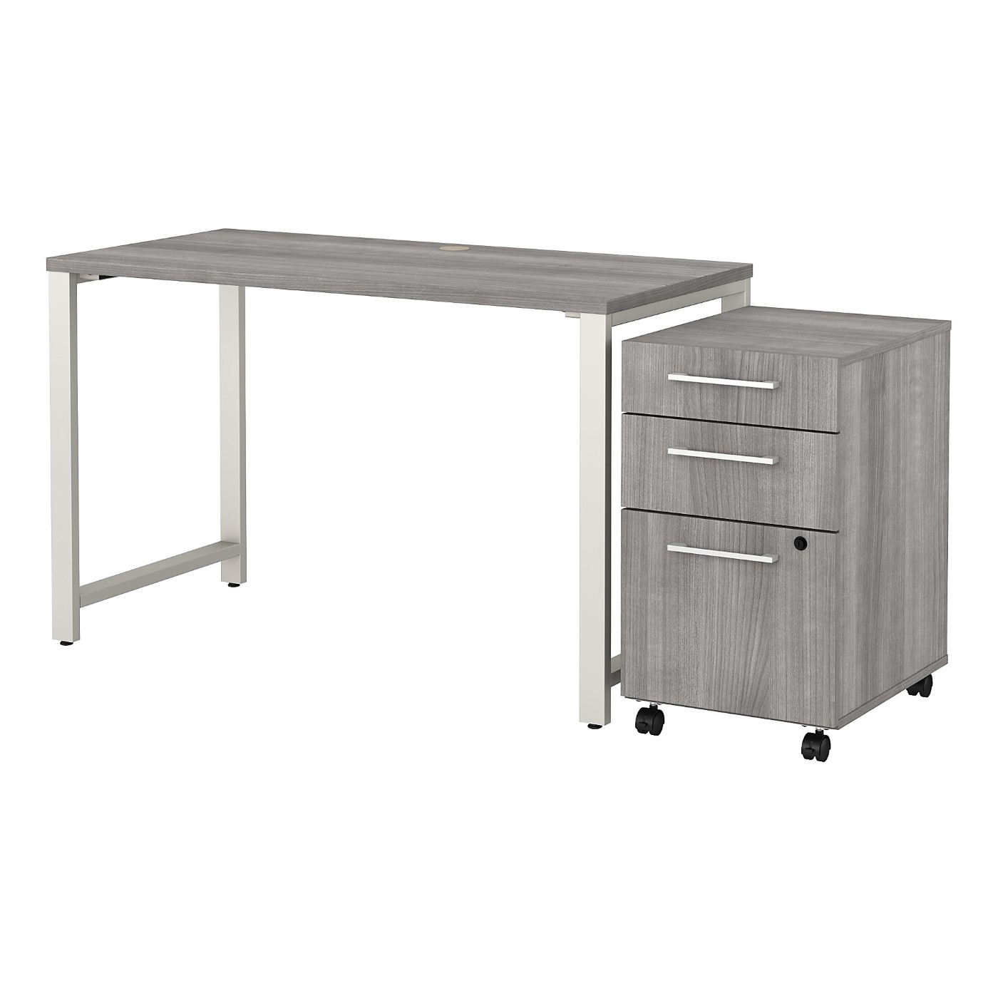 BUSH BUSINESS FURNITURE 400 SERIES 48W X 24D TABLE DESK WITH 3 DRAWER MOBILE FILE CABINET. FREE SHIPPING