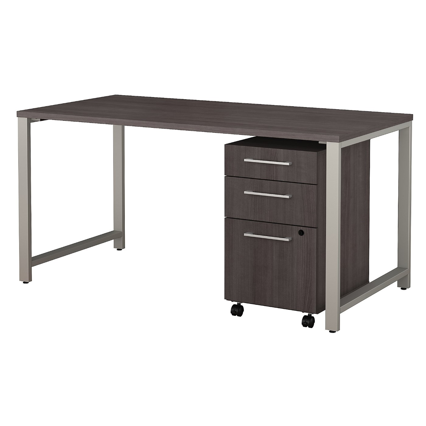 BUSH BUSINESS FURNITURE 400 SERIES 60W X 30D TABLE DESK WITH 3 DRAWER MOBILE FILE CABINET. FREE SHIPPING SALE DEDUCT 10% MORE ENTER '10percent' IN COUPON CODE BOX WHILE CHECKING OUT.
