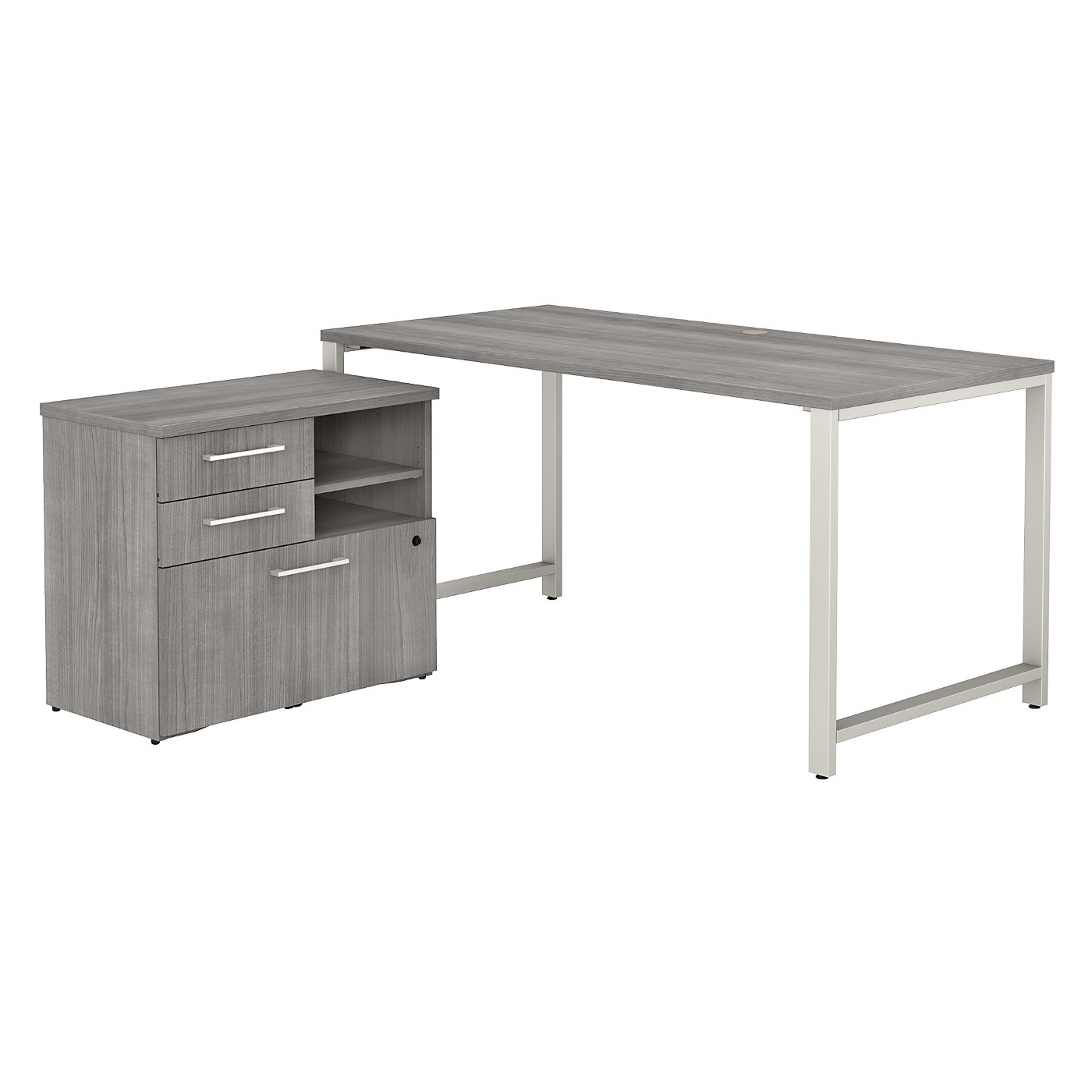 BUSH BUSINESS FURNITURE 400 SERIES 60W X 30D TABLE DESK WITH STORAGE. FREE SHIPPING SALE DEDUCT 10% MORE ENTER '10percent' IN COUPON CODE BOX WHILE CHECKING OUT.