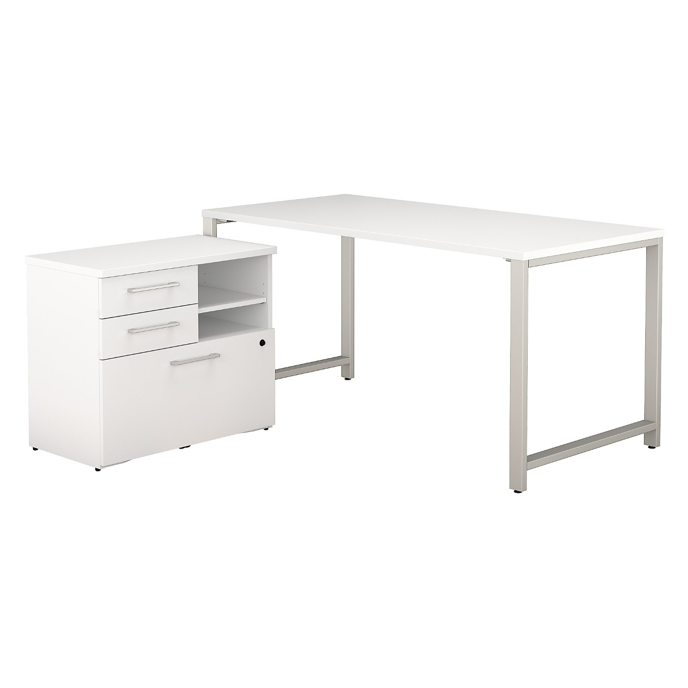 BUSH BUSINESS FURNITURE 400 SERIES 60W X 30D TABLE DESK WITH STORAGE. FREE SHIPPING