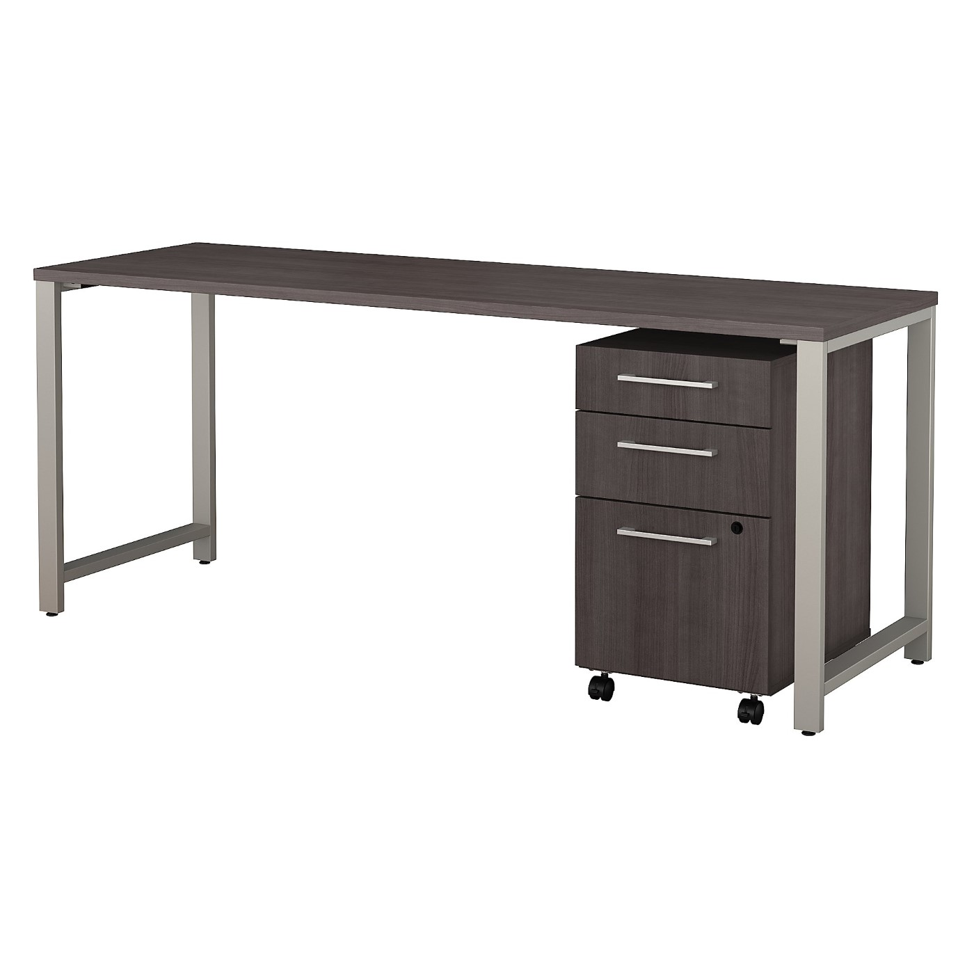 BUSH BUSINESS FURNITURE 400 SERIES 72W X 24D TABLE DESK WITH 3 DRAWER MOBILE FILE CABINET. FREE SHIPPING SALE DEDUCT 10% MORE ENTER '10percent' IN COUPON CODE BOX WHILE CHECKING OUT.