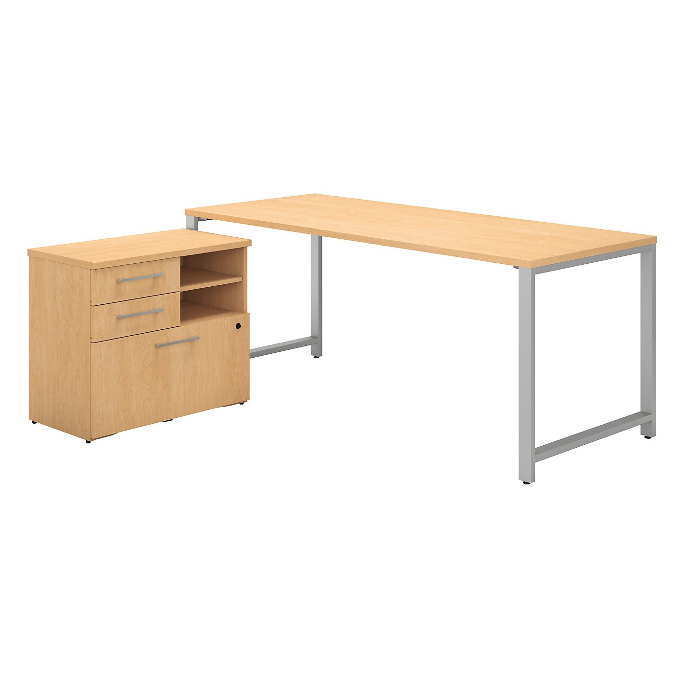 BUSH BUSINESS FURNITURE 400 SERIES 72W X 30D TABLE DESK WITH STORAGE. FREE SHIPPING