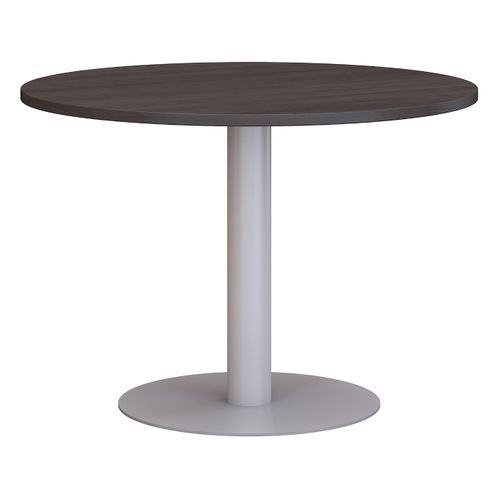 BUSH BUSINESS FURNITURE 42W ROUND CONFERENCE TABLE WITH METAL DISC BASE. FREE SHIPPING - <font color=red><b>OUT OF STOCK</b></font>