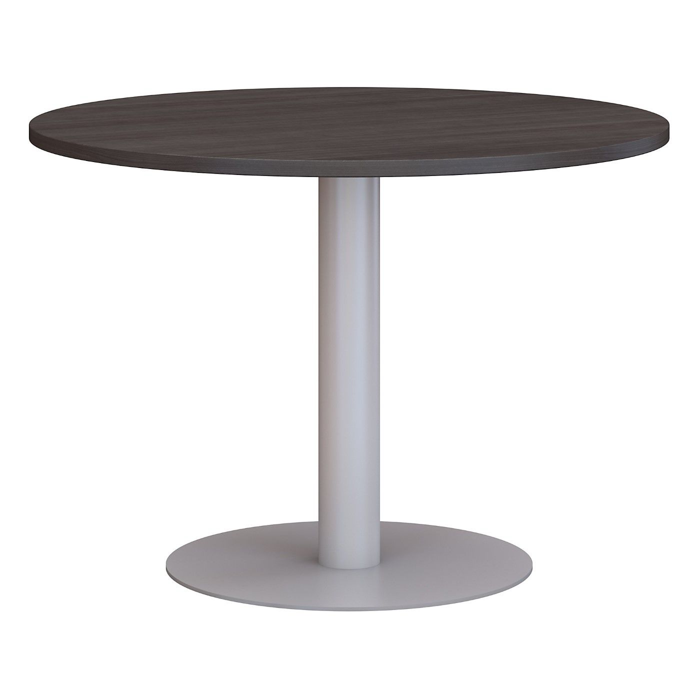 BUSH BUSINESS FURNITURE 42W ROUND CONFERENCE TABLE WITH METAL DISC BASE. FREE SHIPPING