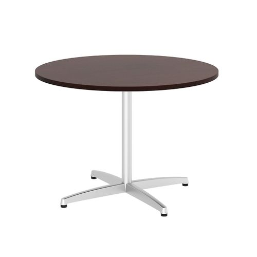 BUSH BUSINESS FURNITURE 42W ROUND CONFERENCE TABLE WITH METAL X BASE. FREE SHIPPING - <font color=red><b>OUT OF STOCK</b></font>