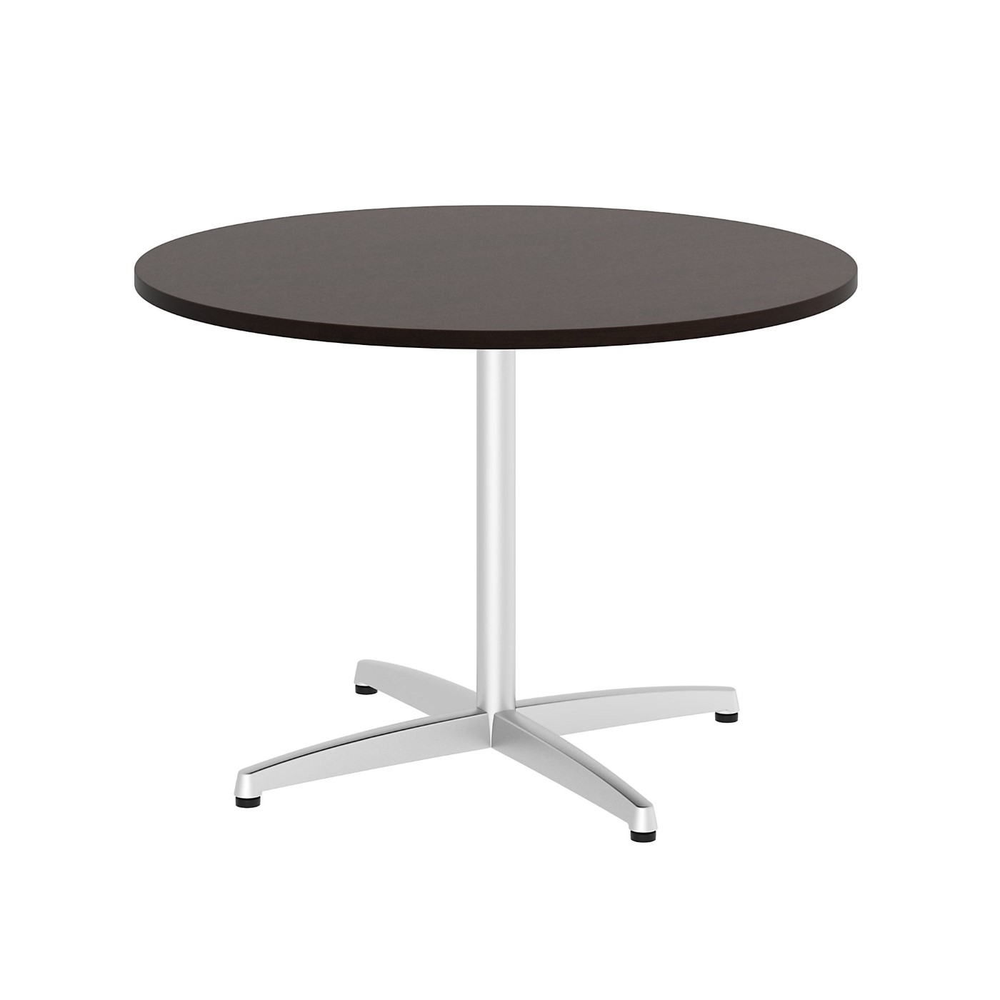 BUSH BUSINESS FURNITURE 42W ROUND CONFERENCE TABLE WITH METAL X BASE. FREE SHIPPING