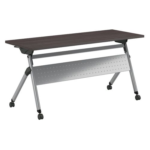BUSH BUSINESS FURNITURE 60W X 24D FOLDING TRAINING TABLE WITH WHEELS. FREE SHIPPING