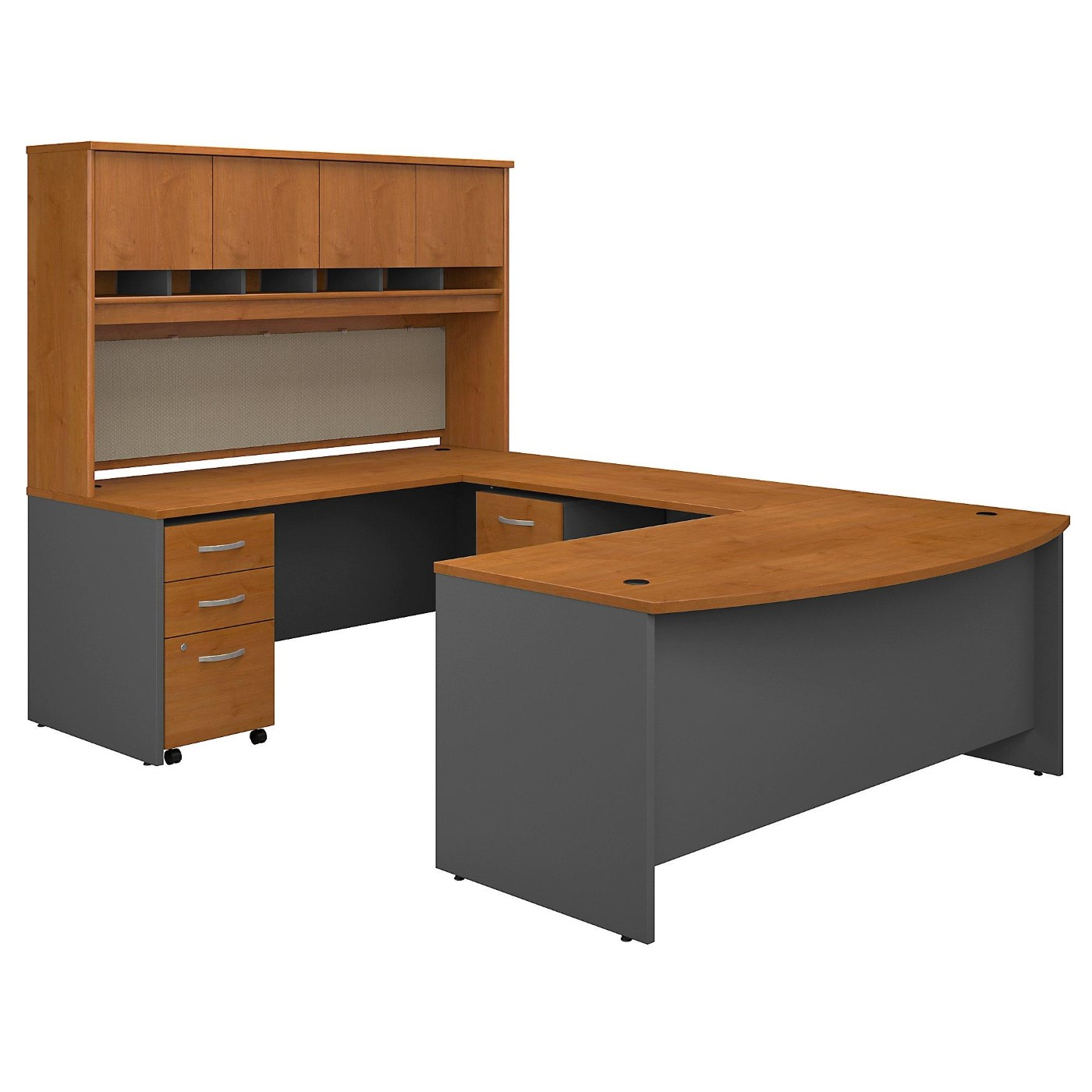 BUSH BUSINESS FURNITURE 72W BOW FRONT U SHAPED DESK WITH HUTCH AND STORAGE. FREE SHIPPING</font></b></font>&#x1F384<font color=red><b>ERGONOMICHOME HOLIDAY SALE - ENDS DEC. 17, 2019</b></font>&#x1F384