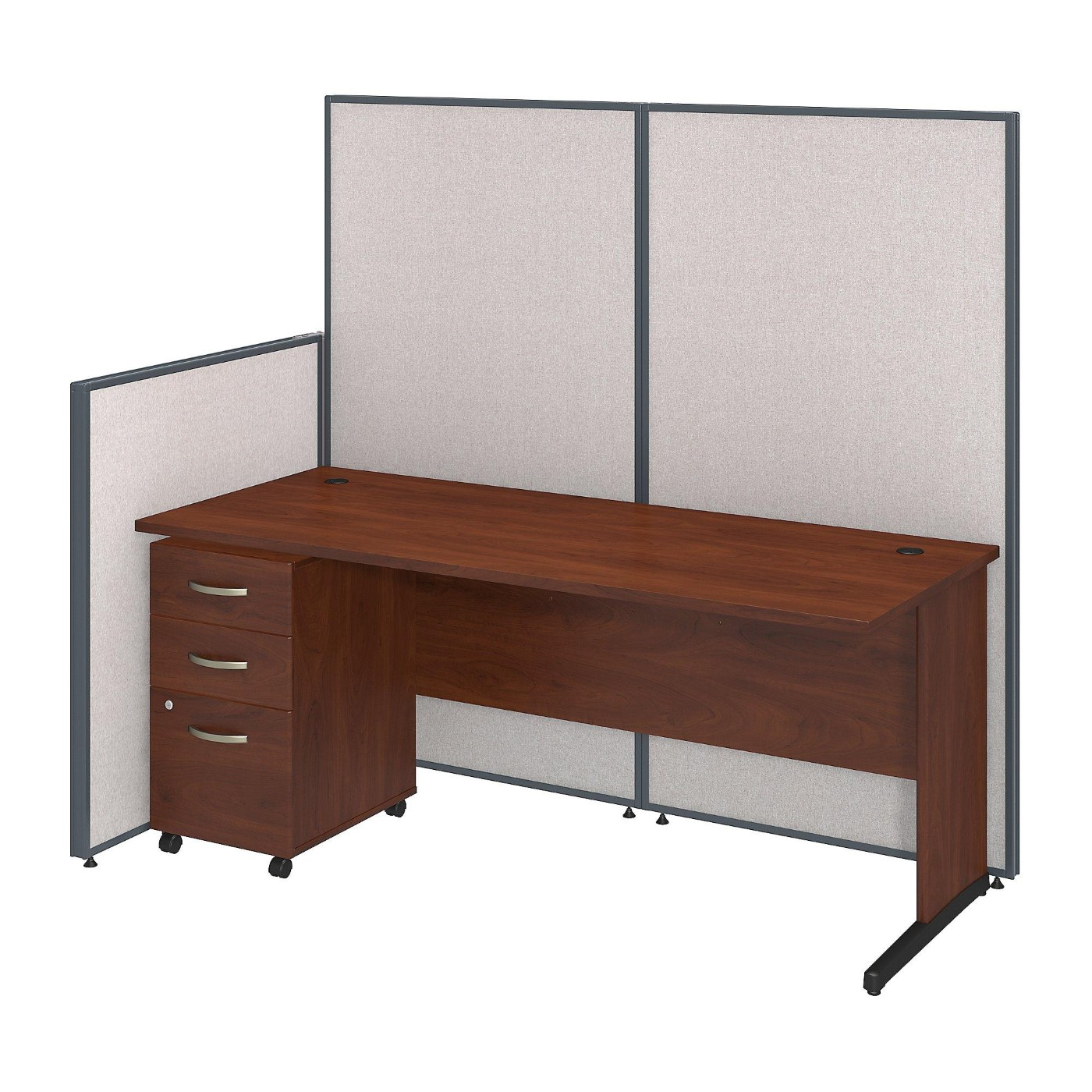 <font color=#c60><b>BUSH BUSINESS FURNITURE 72W C LEG DESK AND 3 DRAWER MOBILE PEDESTAL WITH PROPANELS. FREE SHIPPING</font></b>
