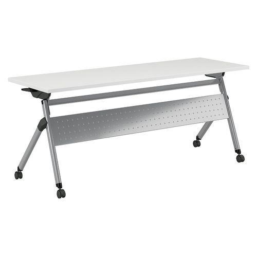 BUSH BUSINESS FURNITURE 72W X 24D FOLDING TRAINING TABLE WITH WHEELS. FREE SHIPPING