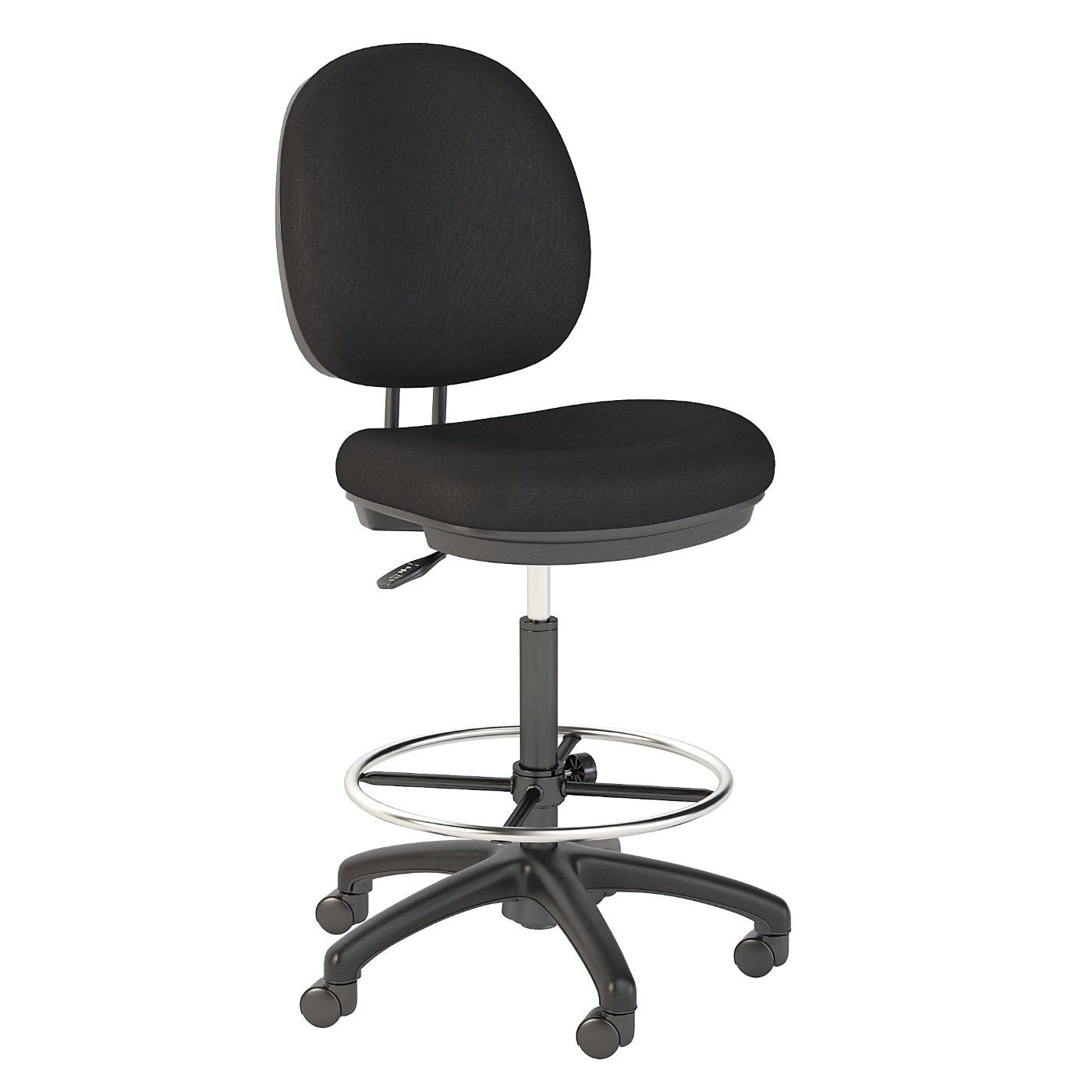 BUSH BUSINESS FURNITURE ACCORD DRAFTING STOOL WITH CHROME FOOT RING. FREE SHIPPING