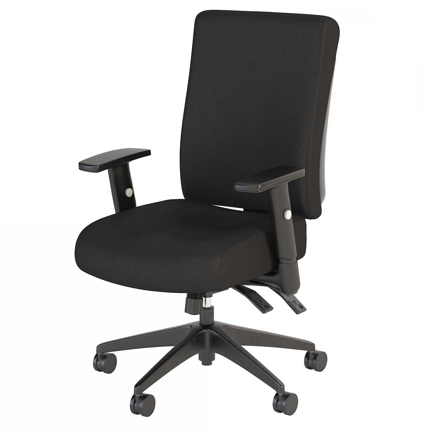 BUSH BUSINESS FURNITURE ACCORD HIGH BACK DELUXE MULTIFUNCTION OFFICE CHAIR. FREE SHIPPING.