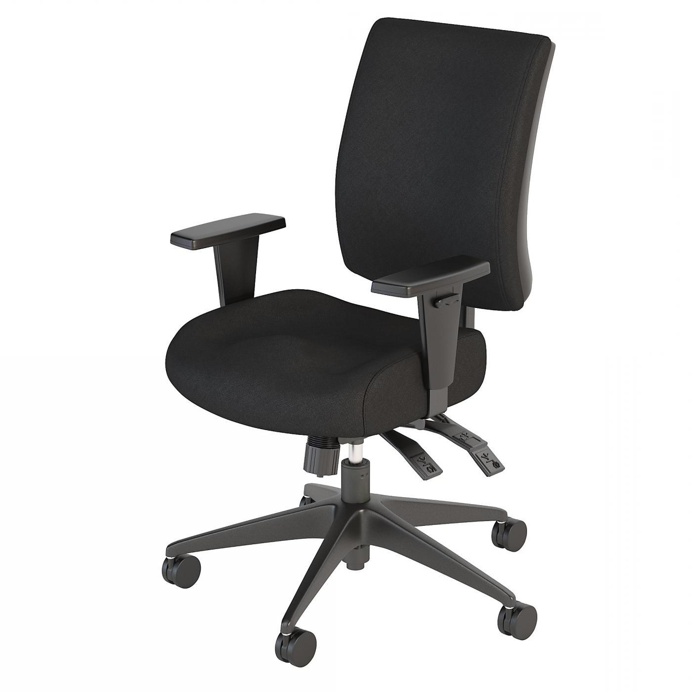 BUSH BUSINESS FURNITURE ACCORD MID BACK DELUXE MULTIFUNCTION OFFICE CHAIR. FREE SHIPPING.
