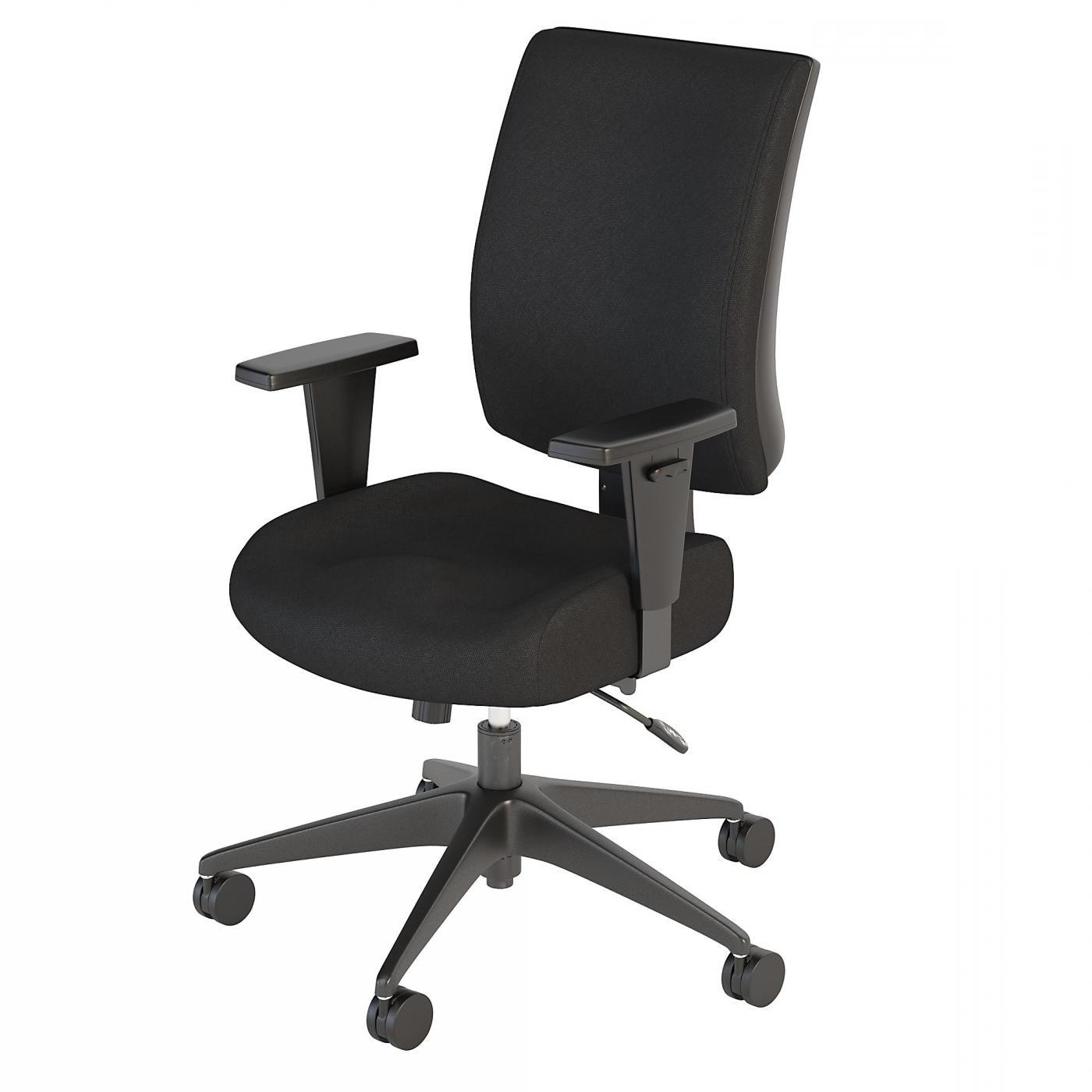 BUSH BUSINESS FURNITURE ACCORD MID BACK MULTIFUNCTION OFFICE CHAIR. FREE SHIPPING.