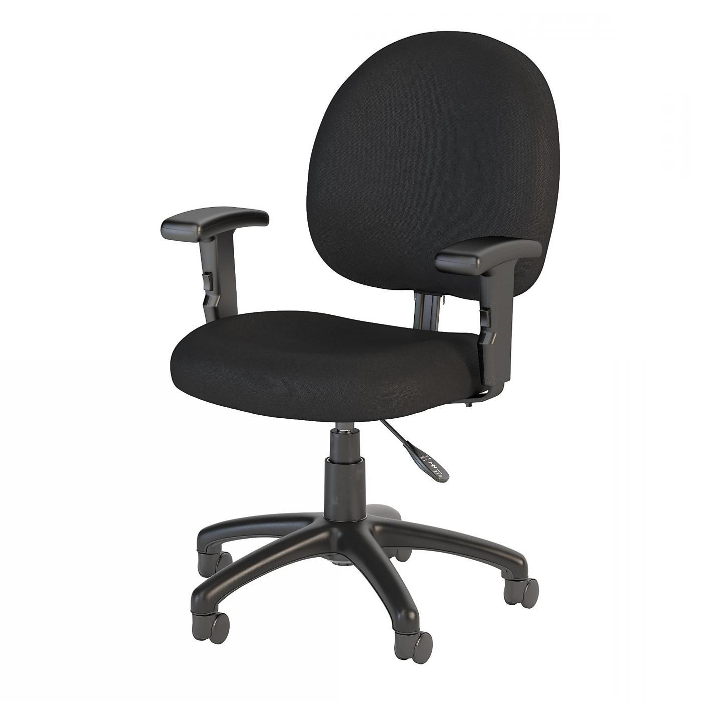 BUSH BUSINESS FURNITURE ACCORD TASK CHAIR WITH ARMS. FREE SHIPPING.