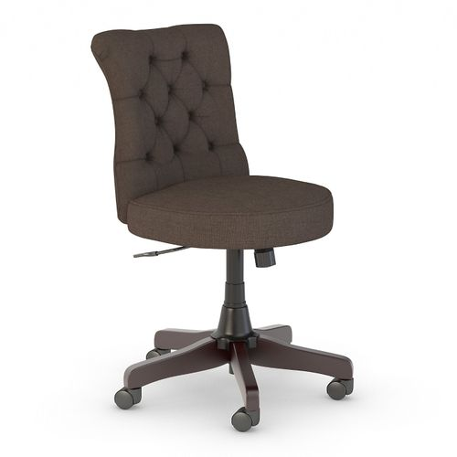 BUSH BUSINESS FURNITURE ARDEN LANE MID BACK TUFTED OFFICE CHAIR. FREE SHIPPING 30H x 72L x 72W  VIDEO BELOW.