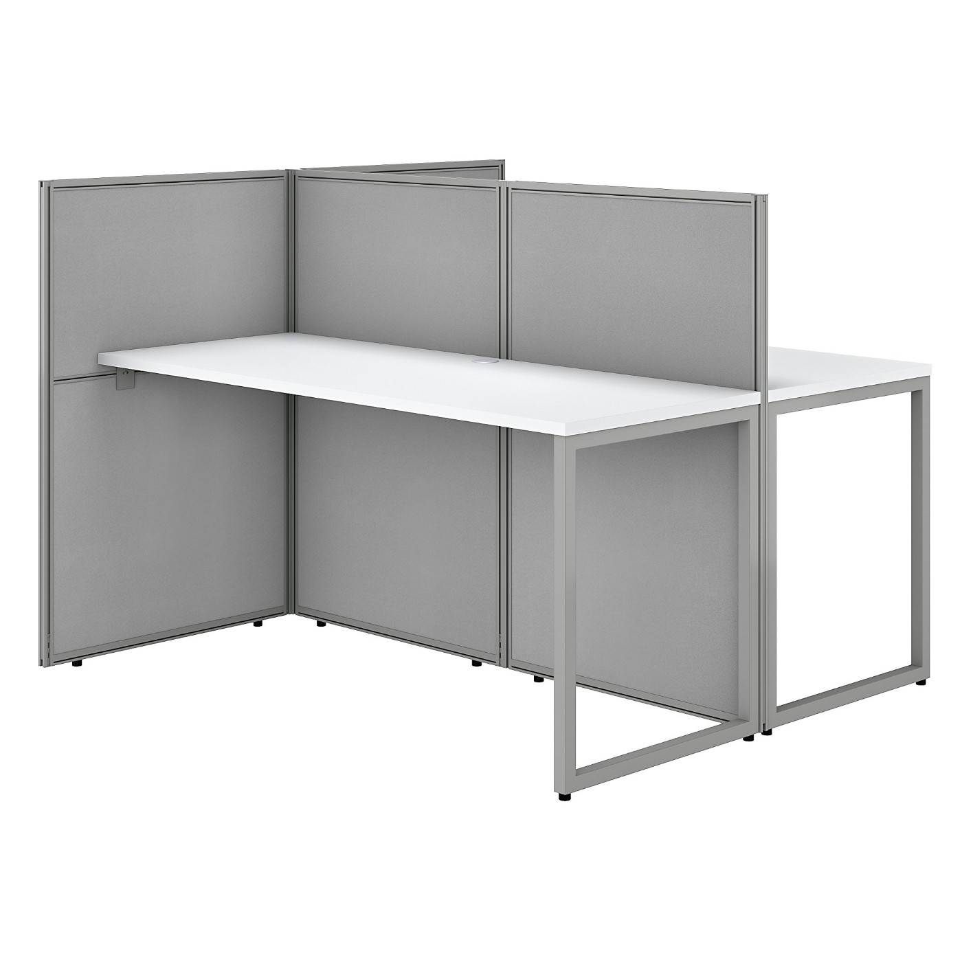 BUSH BUSINESS FURNITURE EASY OFFICE 60W 2 PERSON CUBICLE DESK WORKSTATION WITH 45H PANELS. FREE SHIPPING