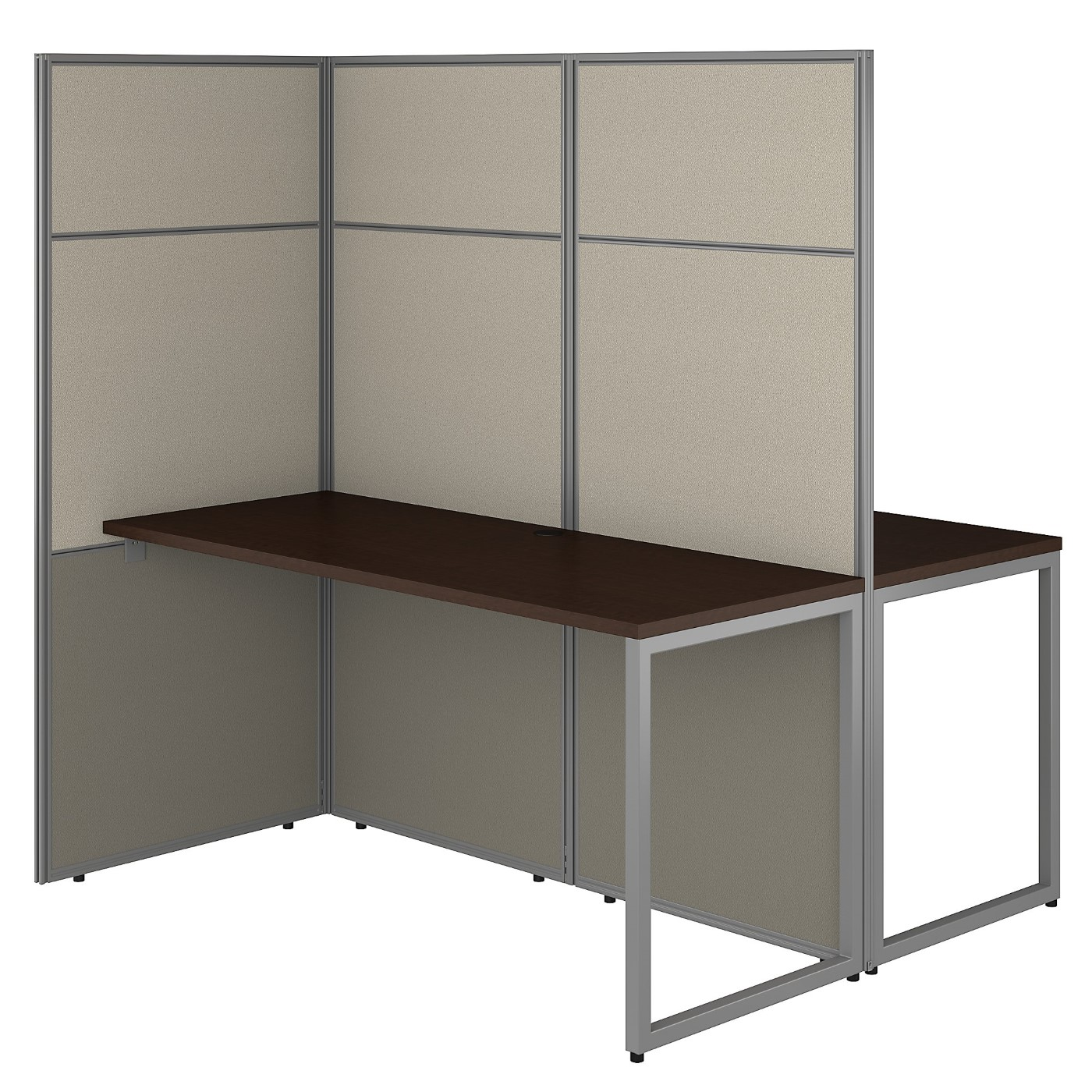 BUSH BUSINESS FURNITURE EASY OFFICE 60W 2 PERSON CUBICLE DESK WORKSTATION WITH 66H PANELS. FREE SHIPPING 30H x 72L x 72W.  SALE DEDUCT 10% MORE ENTER '10percent' IN COUPON CODE BOX WHILE CHECKING OUT. ENDS 5-31-20.