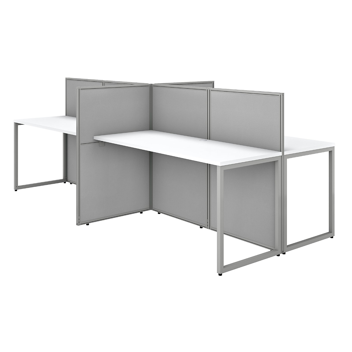 BUSH BUSINESS FURNITURE EASY OFFICE 60W 4 PERSON CUBICLE DESK WORKSTATION WITH 45H PANELS. FREE SHIPPING SALE DEDUCT 10% MORE ENTER '10percent' IN COUPON CODE BOX WHILE CHECKING OUT. ENDS 5-31-20.