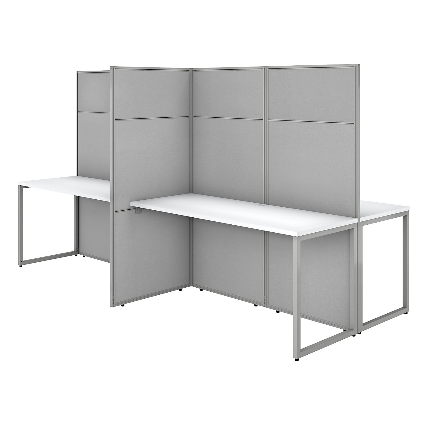 BUSH BUSINESS FURNITURE EASY OFFICE 60W 4 PERSON CUBICLE DESK WORKSTATION WITH 66H PANELS. FREE SHIPPING SALE DEDUCT 10% MORE ENTER '10percent' IN COUPON CODE BOX WHILE CHECKING OUT. ENDS 5-31-20.