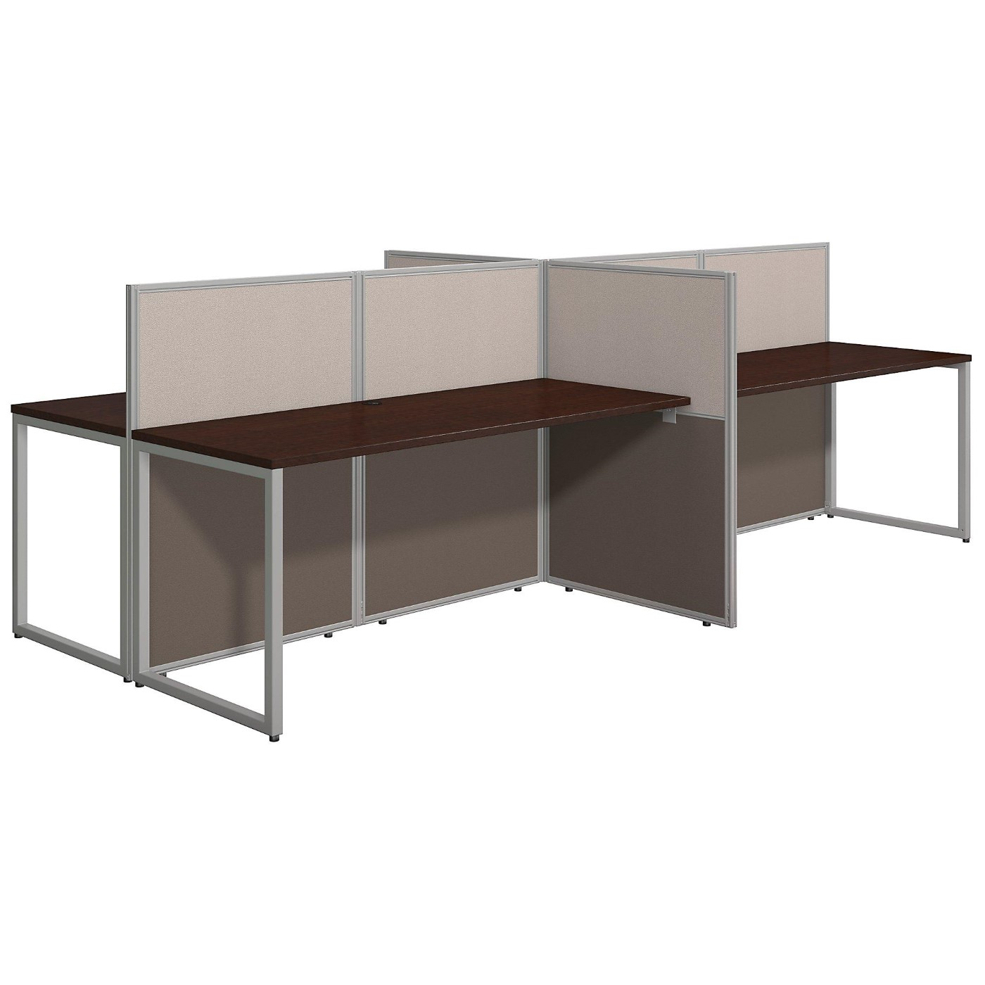 BUSH BUSINESS FURNITURE EASY OFFICE 60W 4 PERSON STRAIGHT DESK OPEN OFFICE. FREE SHIPPING.
