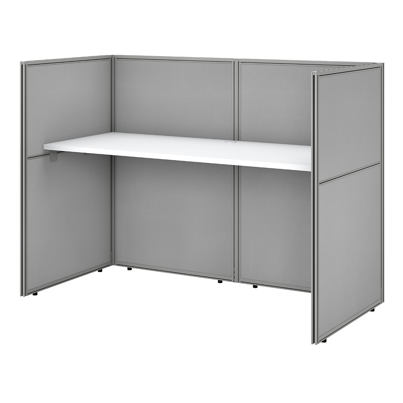 BUSH BUSINESS FURNITURE EASY OFFICE 60W CUBICLE DESK WORKSTATION WITH 45H CLOSED PANELS. FREE SHIPPING SALE DEDUCT 10% MORE ENTER '10percent' IN COUPON CODE BOX WHILE CHECKING OUT. ENDS 5-31-20.