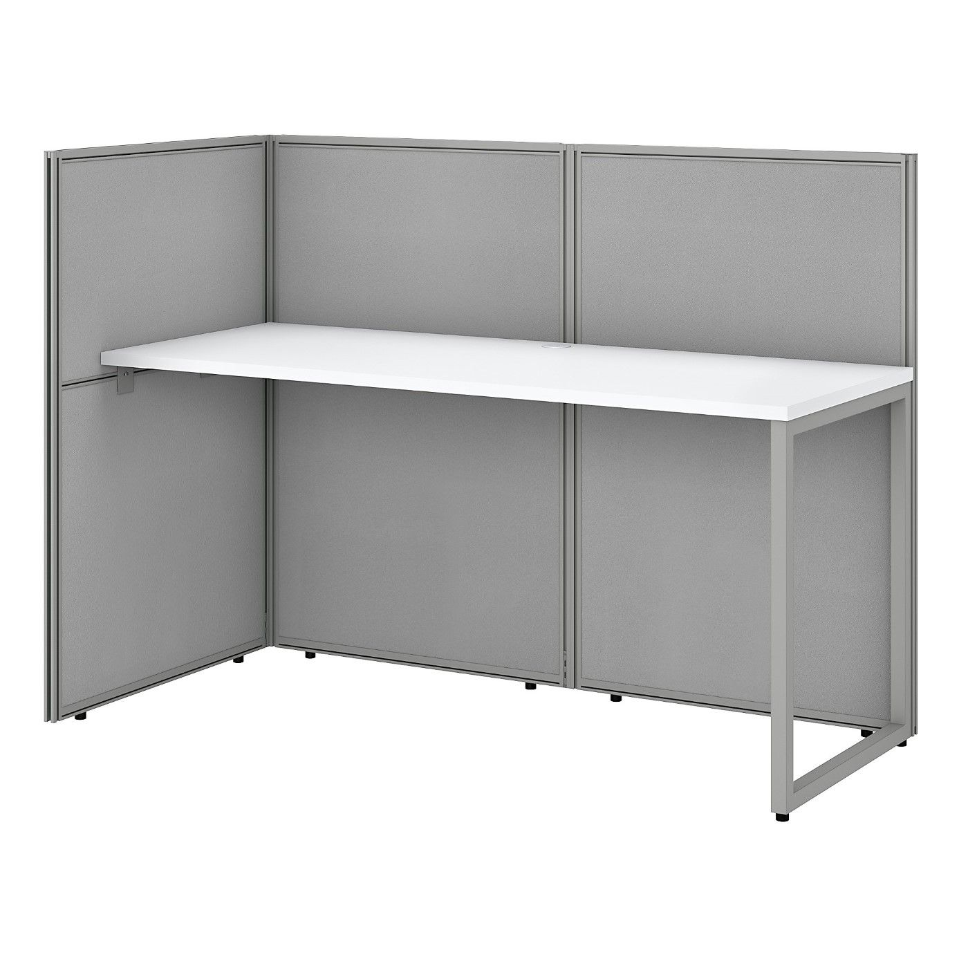BUSH BUSINESS FURNITURE EASY OFFICE 60W CUBICLE DESK WORKSTATION WITH 45H OPEN PANELS. FREE SHIPPING