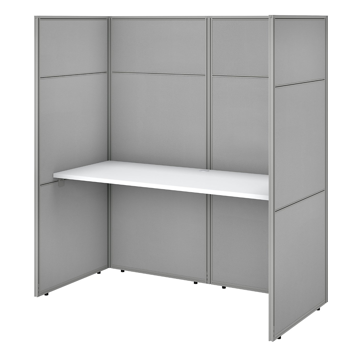 BUSH BUSINESS FURNITURE EASY OFFICE 60W CUBICLE DESK WORKSTATION WITH 66H CLOSED PANELS. FREE SHIPPING