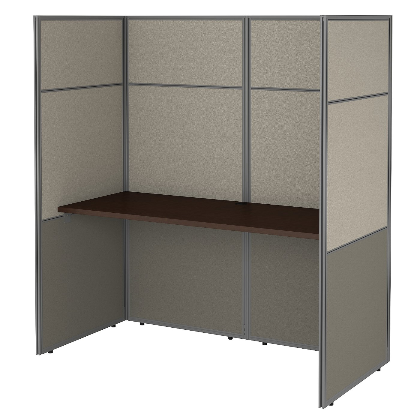 <font color=#c60><b>BUSH BUSINESS FURNITURE EASY OFFICE 60W CUBICLE DESK WORKSTATION WITH 66H CLOSED PANELS. FREE SHIPPING 30H x 72L x 72W</font></b>