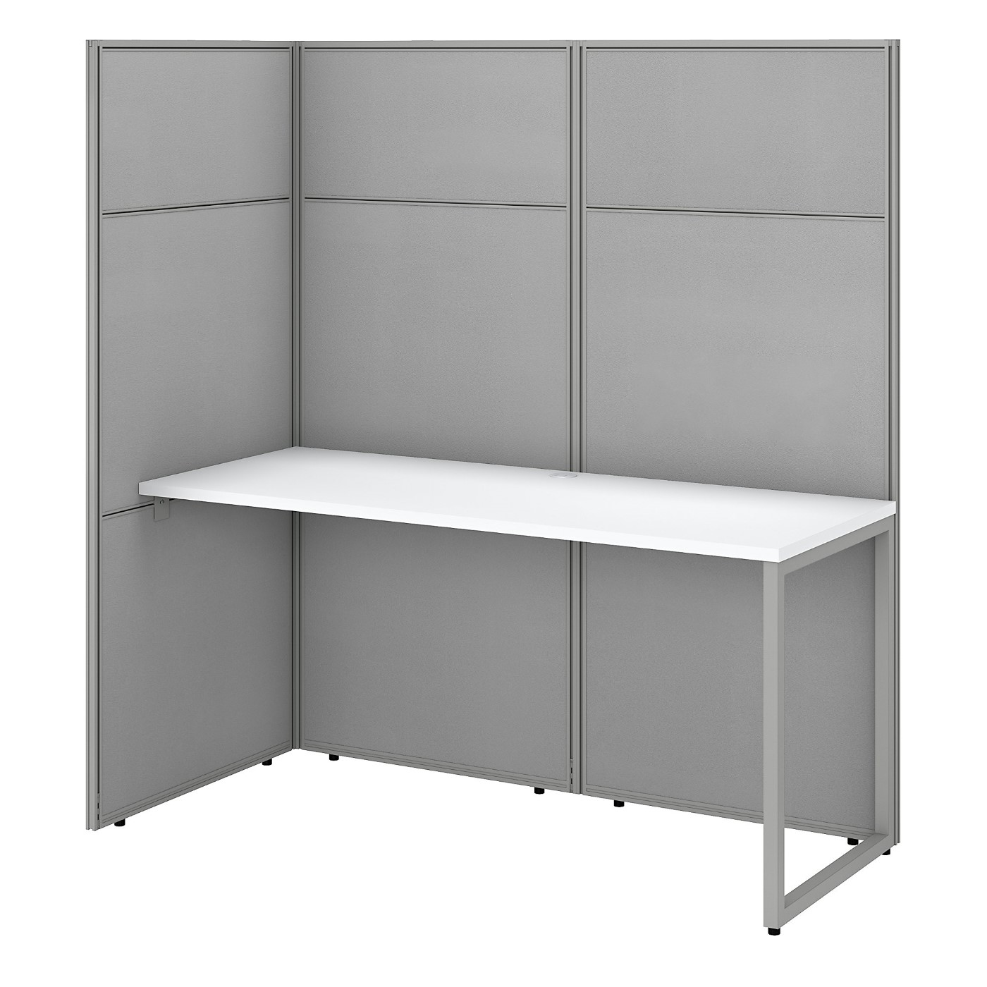 BUSH BUSINESS FURNITURE EASY OFFICE 60W CUBICLE DESK WORKSTATION WITH 66H OPEN PANELS. FREE SHIPPING