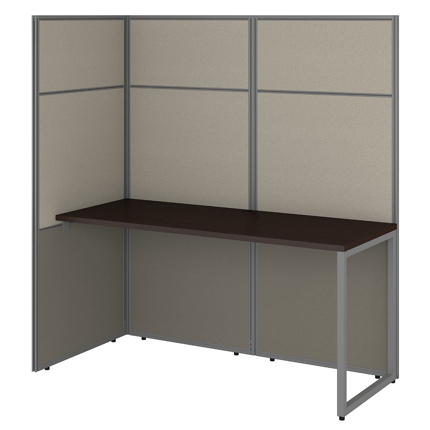 BUSH BUSINESS FURNITURE EASY OFFICE 60W CUBICLE DESK WORKSTATION WITH 66H OPEN PANELS. FREE SHIPPING 30H x 72L x 72W.