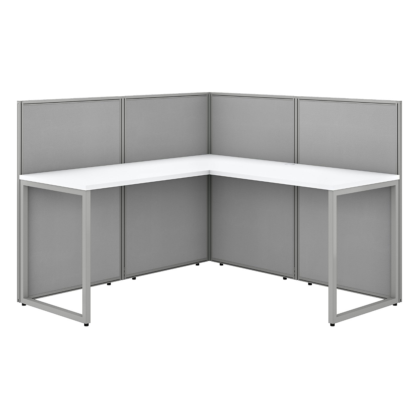BUSH BUSINESS FURNITURE EASY OFFICE 60W L SHAPED CUBICLE DESK WORKSTATION WITH 45H PANELS. FREE SHIPPING SALE DEDUCT 10% MORE ENTER '10percent' IN COUPON CODE BOX WHILE CHECKING OUT. ENDS 5-31-20.