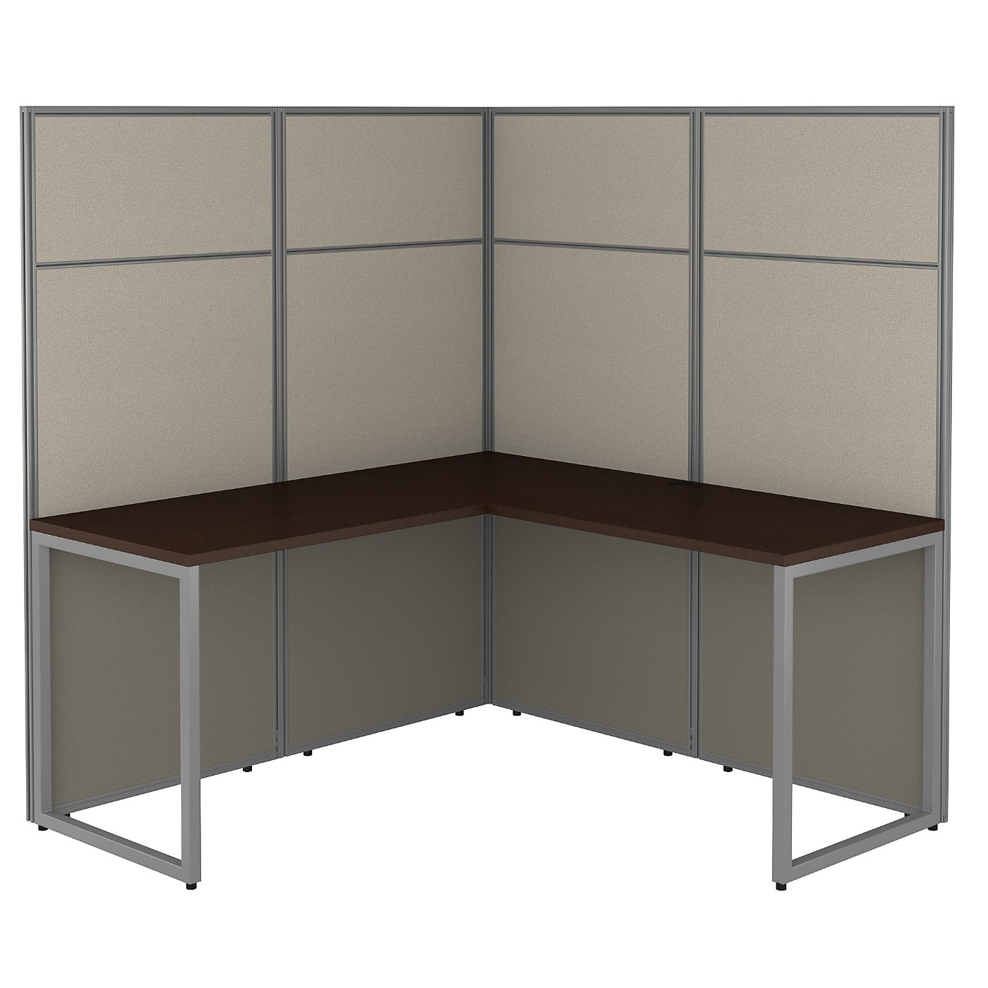 <font color=#c60><b>BUSH BUSINESS FURNITURE EASY OFFICE 60W L SHAPED CUBICLE DESK WORKSTATION WITH 66H PANELS. FREE SHIPPING 30H x 72L x 72W</font></b>