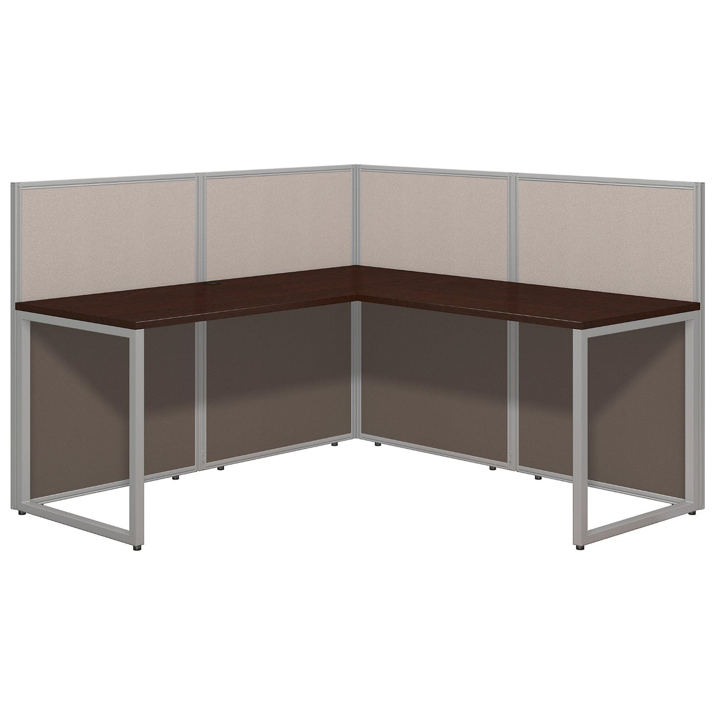 BUSH BUSINESS FURNITURE EASY OFFICE 60W L SHAPED DESK OPEN OFFICE. FREE SHIPPING.  SALE DEDUCT 10% MORE ENTER '10percent' IN COUPON CODE BOX WHILE CHECKING OUT. ENDS 5-31-20.