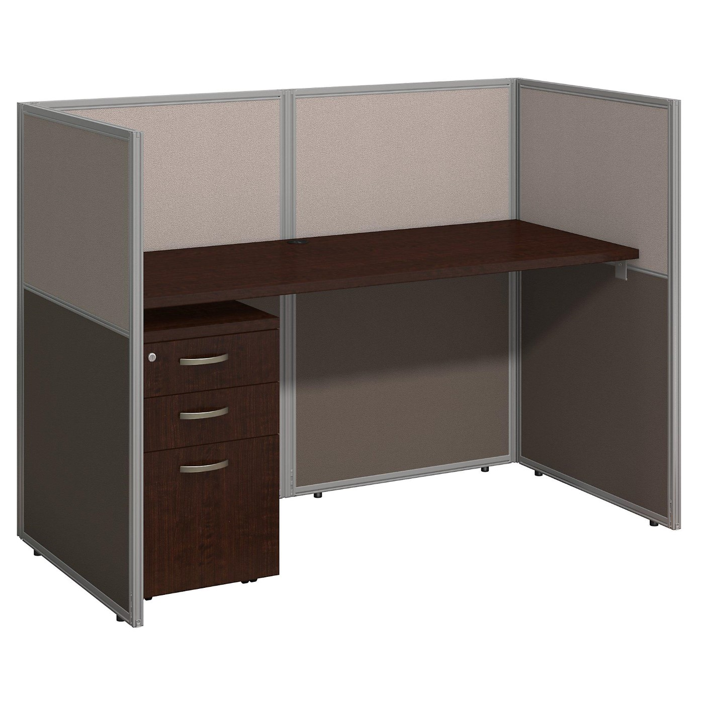 <font color=#c60><b>BUSH BUSINESS FURNITURE EASY OFFICE 60W STRAIGHT DESK CLOSED OFFICE WITH MOBILE FILE CABINET. FREE SHIPPING</font></b>
