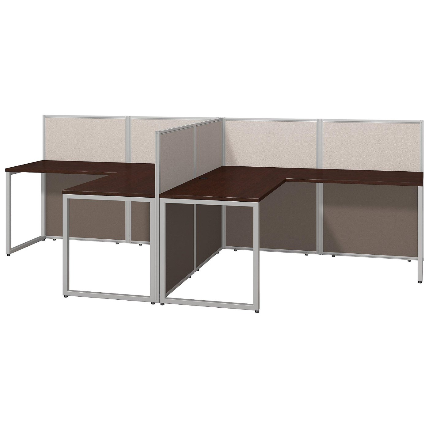 <font color=#c60><b>BUSH BUSINESS FURNITURE EASY OFFICE 60W TWO PERSON L SHAPED DESK OPEN OFFICE. FREE SHIPPING</font></b>