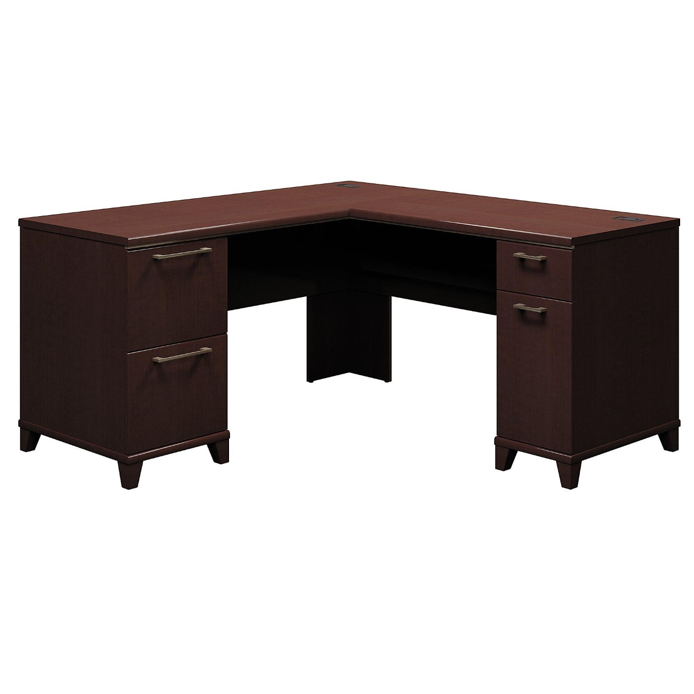 <font color=#c60><b>BUSH BUSINESS FURNITURE ENTERPRISE 60W X 60D L SHAPED DESK. FREE SHIPPING</font></b>