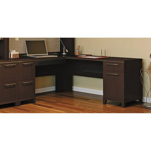 <font color=#c60><b>BUSH BUSINESS FURNITURE ENTERPRISE MOCHA CHERRY 72W x 72D L-SHAPED DESK. FREE SHIPPING:</font></b>
