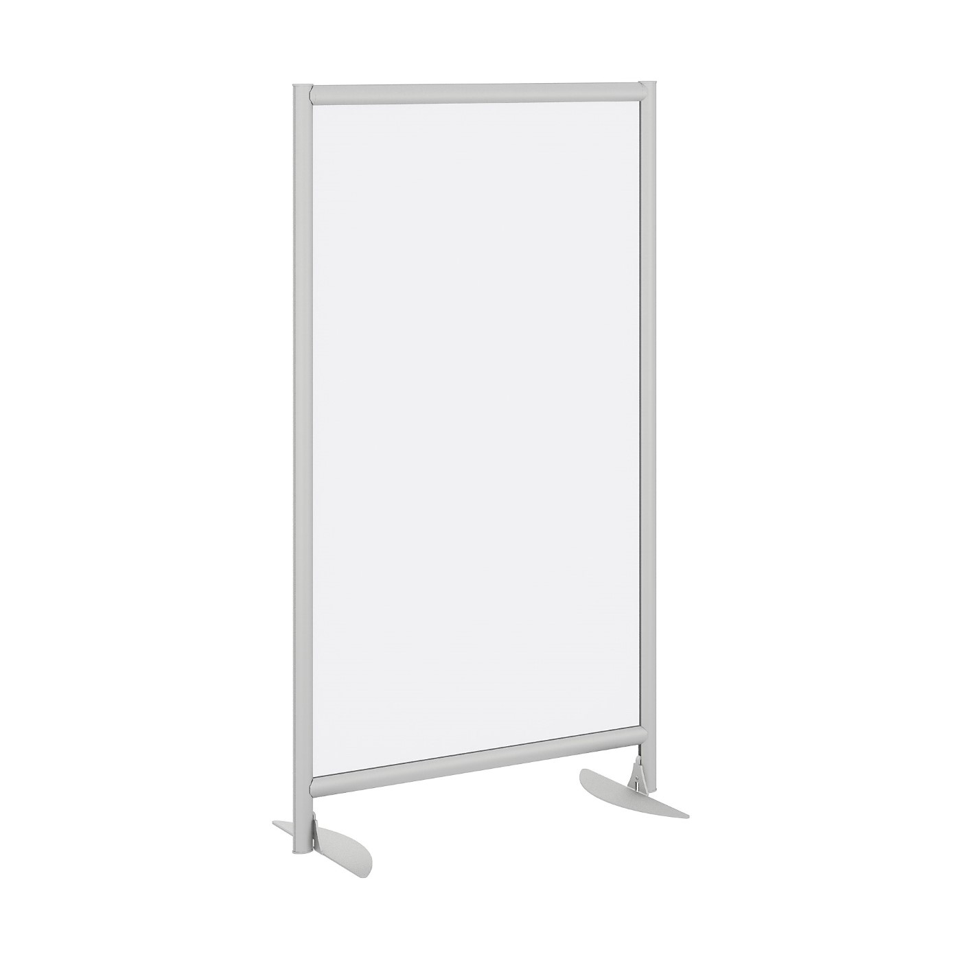 BUSH BUSINESS FURNITURE FREESTANDING FROSTED ACRYLIC PRIVACY PANEL WITH STATIONARY BASE. FREE SHIPPING