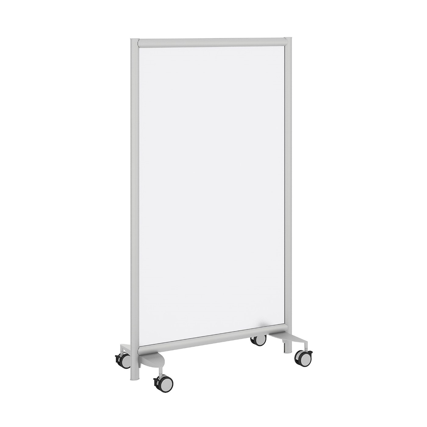 BUSH BUSINESS FURNITURE FREESTANDING FROSTED ACRYLIC PRIVACY PANEL WITH WHEELED BASE. FREE SHIPPING SALE DEDUCT 10% MORE ENTER '10percent' IN COUPON CODE BOX WHILE CHECKING OUT. ENDS 5-31-20.