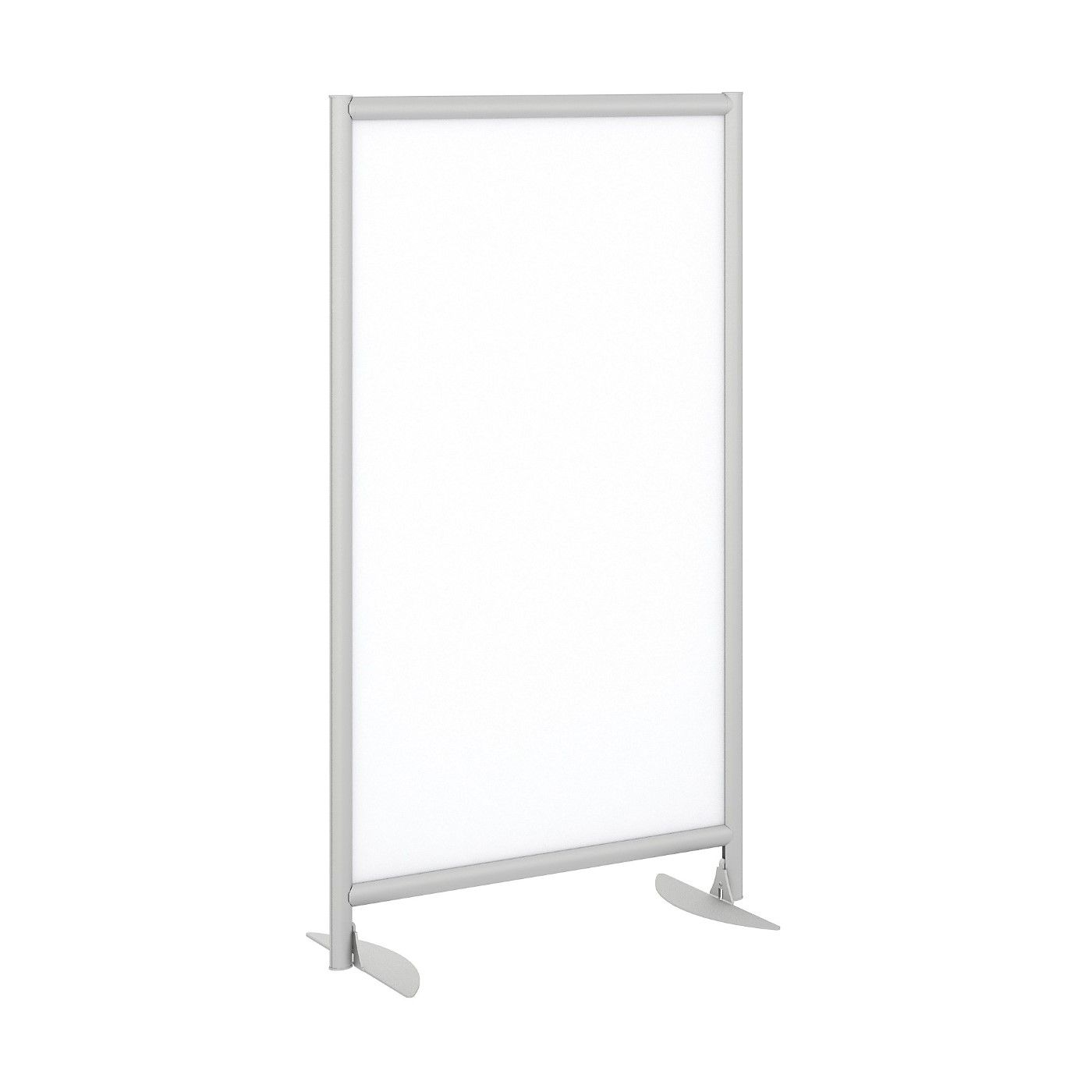 BUSH BUSINESS FURNITURE FREESTANDING WHITE BOARD PRIVACY PANEL WITH STATIONARY BASE. FREE SHIPPING
