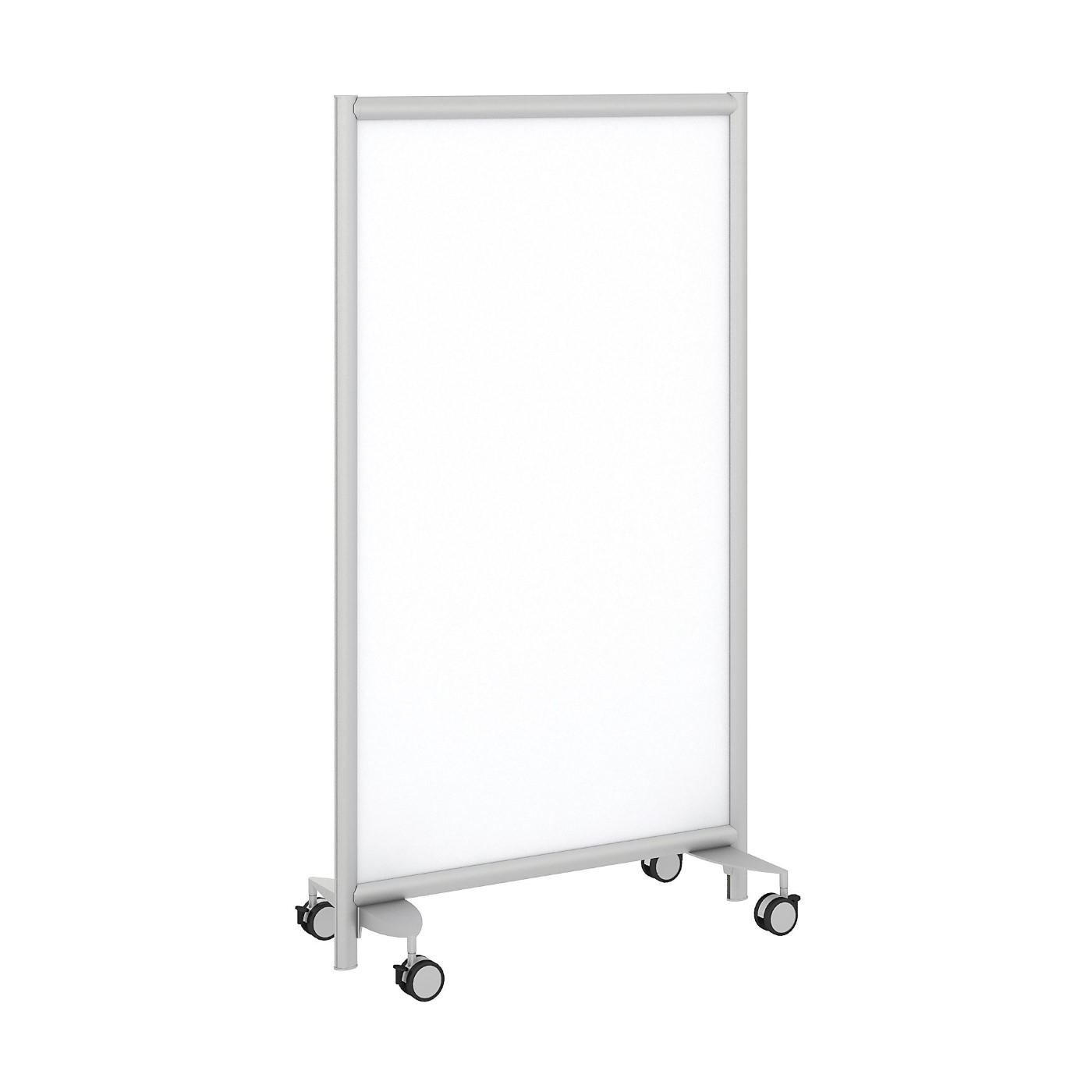 BUSH BUSINESS FURNITURE FREESTANDING WHITE BOARD PRIVACY PANEL WITH WHEELED BASE. FREE SHIPPING