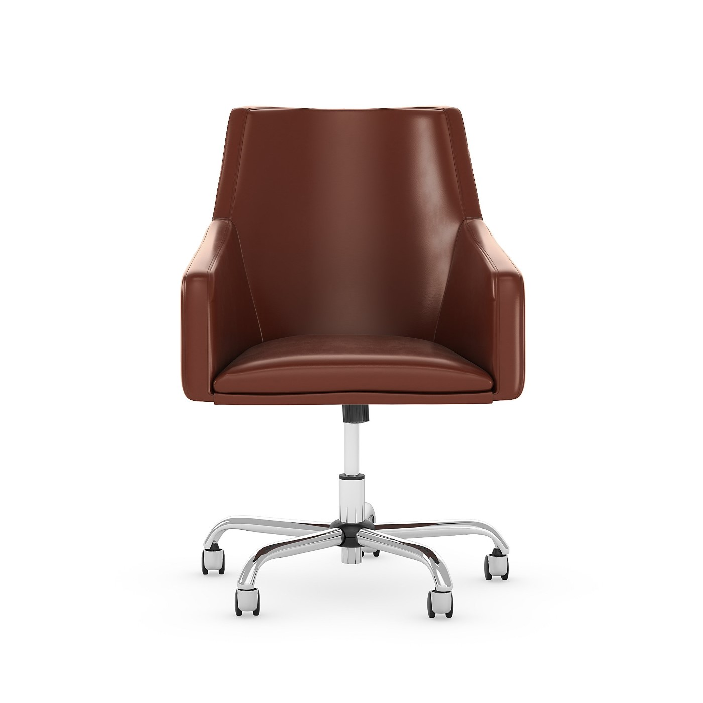 <font color=#c60><b>BUSH BUSINESS FURNITURE LONDON MID BACK LEATHER BOX CHAIR. FREE SHIPPING 30H x 72L x 72W</font></b>